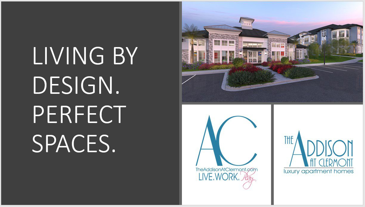 addison at clermont living by design perfect spaces brochure cover