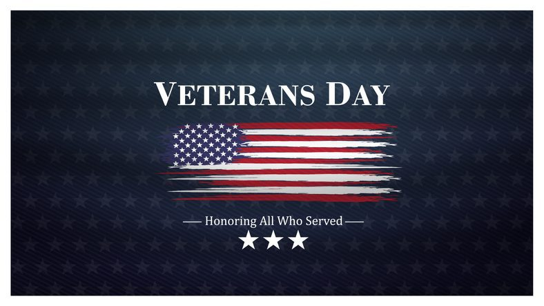 veterans day, November 11, honoring all who served, posters, modern brush design vector illustration