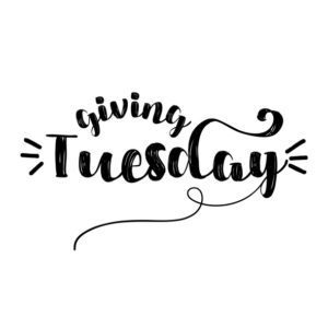 Giving tuesday - inspirational lettering design
