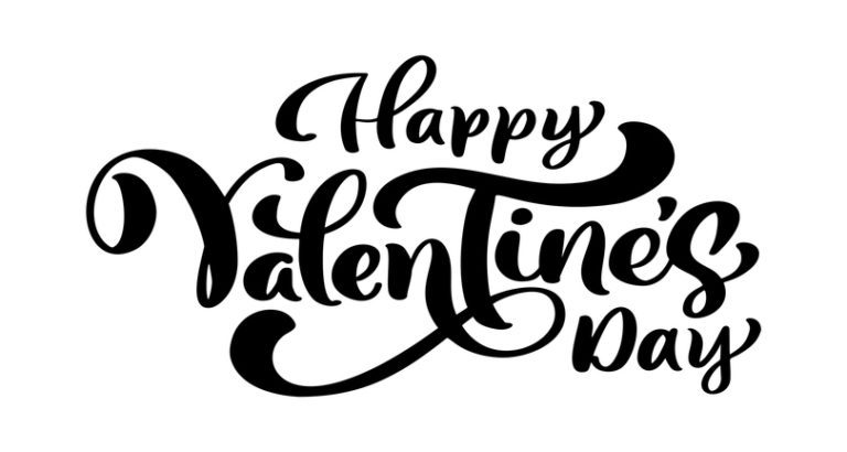 Calligraphy phrase Happy Valentine s Day. Vector Valentines Day Hand Drawn lettering. Heart Holiday sketch doodle Design valentine card. love decor for web, wedding and print. Isolated illustration