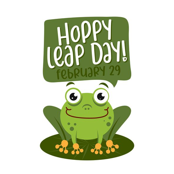 Hoppy leap day - leap year 29 February calendar page