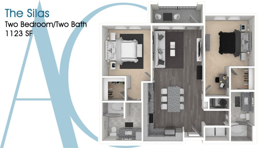 1123 The Silas Addison Clermont Floorplan