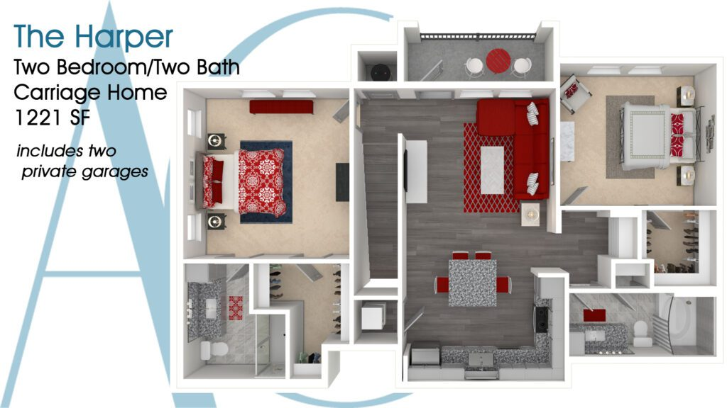 1221 The Harper Carriage Addison Clermont Floorplan