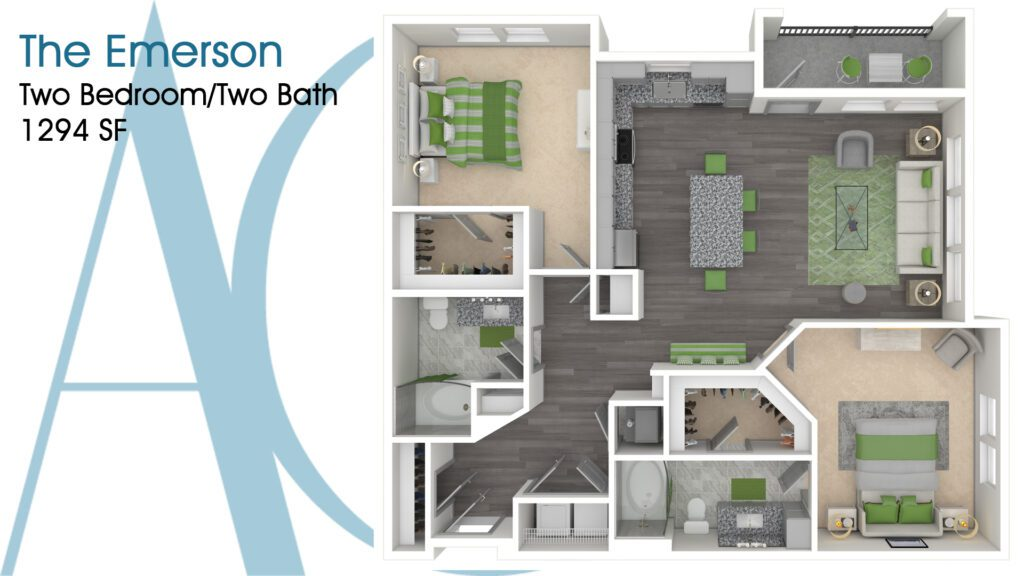 1294 The Emerson Addison Clermont Floorplan