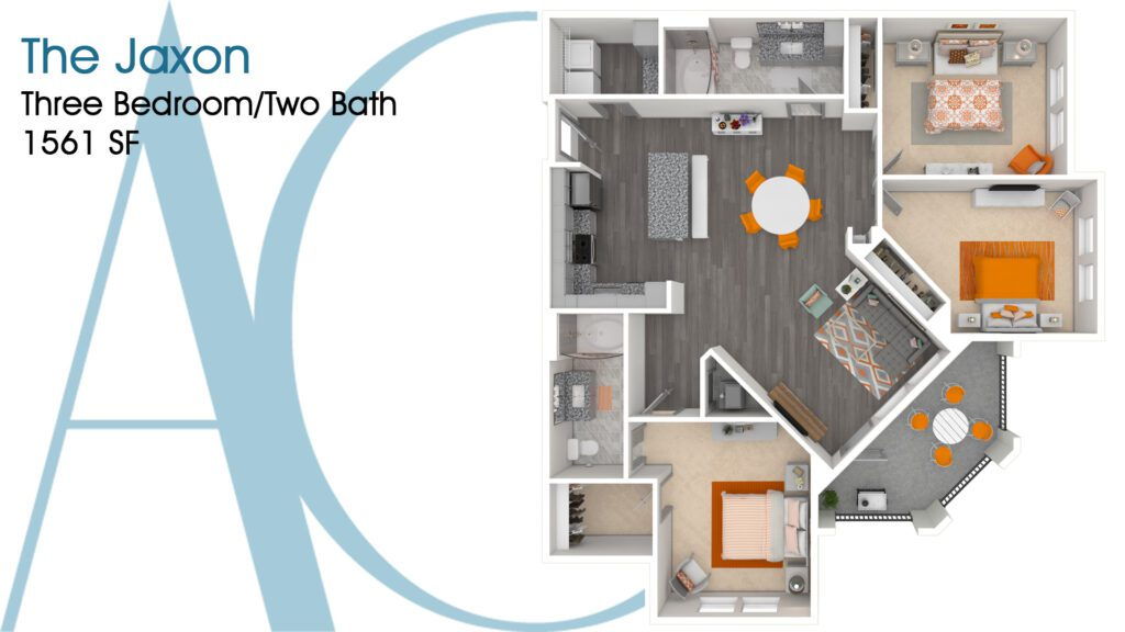 1561 The Jaxon Addison Clermont Floorplan