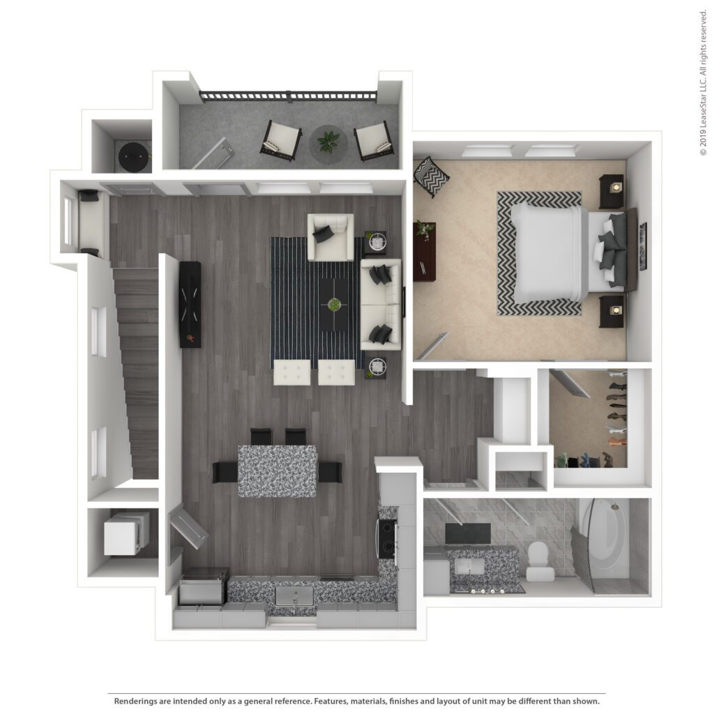 THE BLAKELY, A3 CARRIAGE HOME | 896 SF | ONE BEDROOM, ONE BATH >> INCLUDES ONE GARAGE