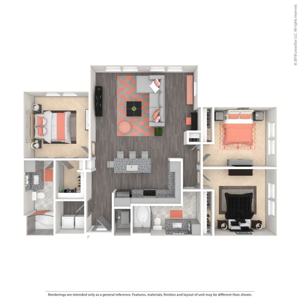 THE EDISON, C1 | 1331 SF | TWO BEDROOM, TWO BATH