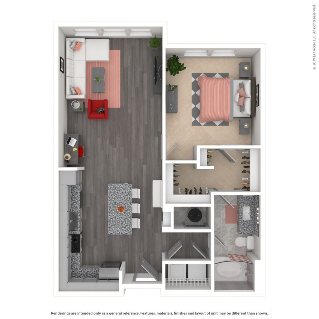 THE MAXWELL, A2 | 805 SF | ONE BEDROOM, ONE BATH