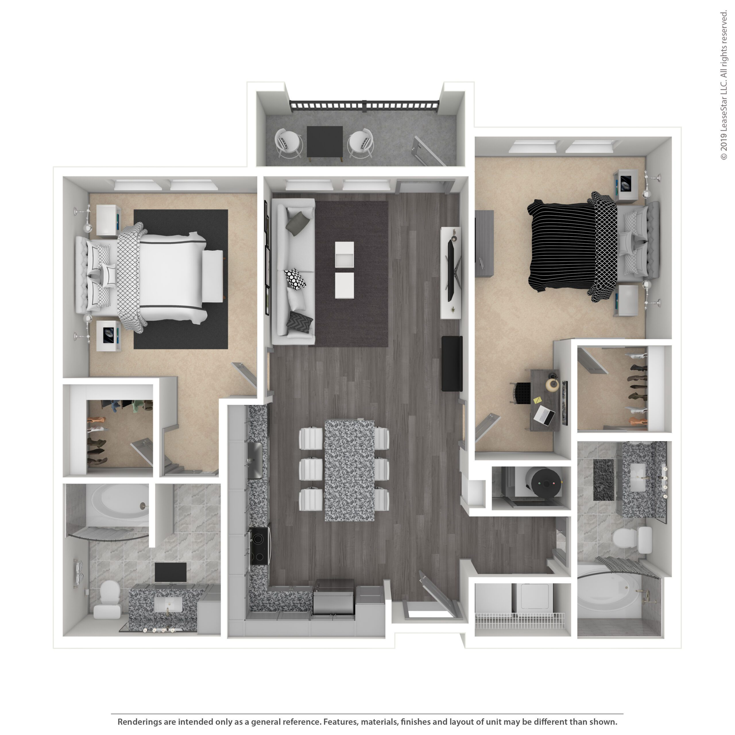 THE SILAS, B1A | 1057 SF | TWO BEDROOM, TWO BATH