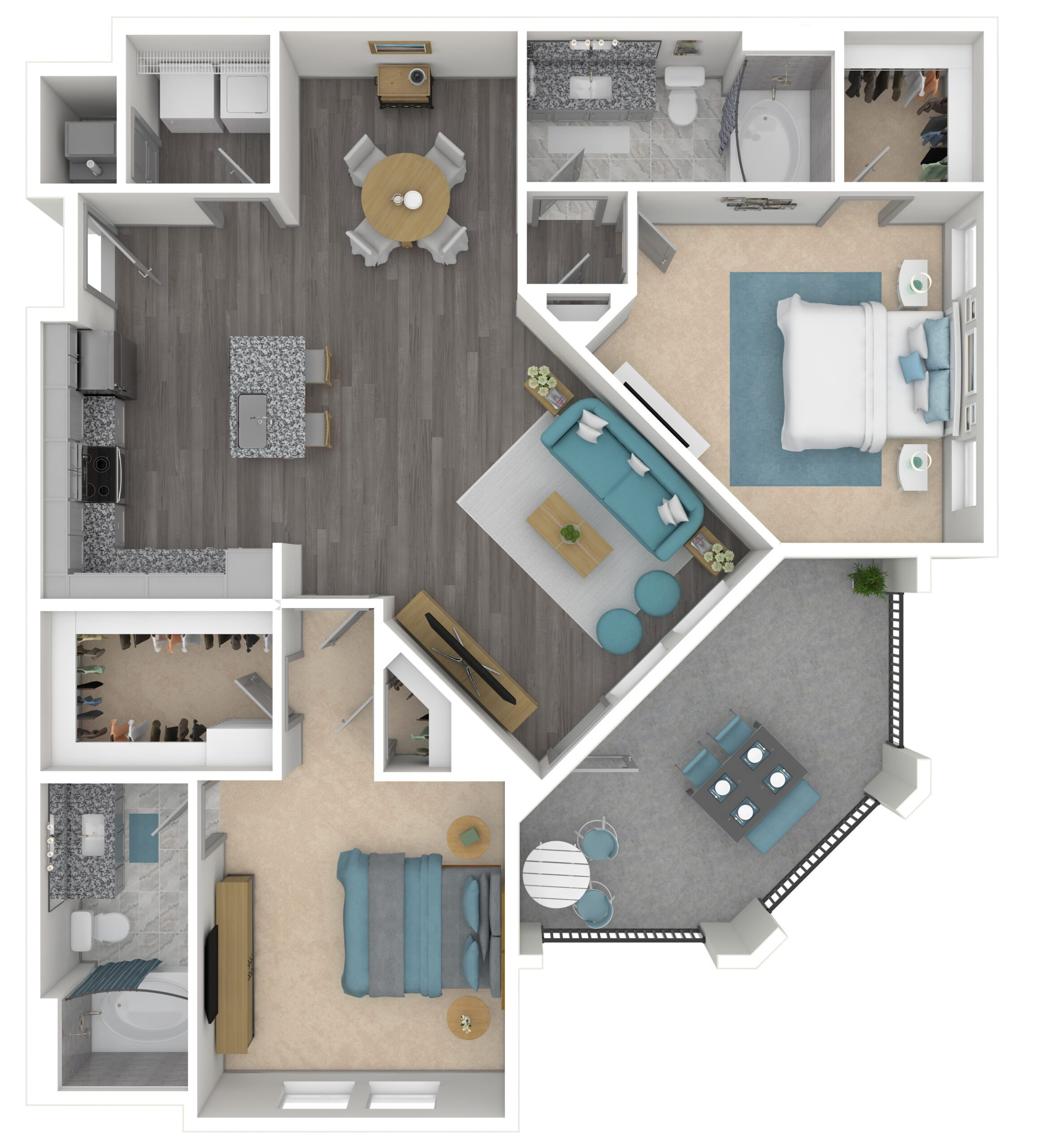 THE WINSTON, B2 | 1186 SF | TWO BEDROOM, TWO BATH